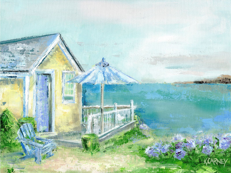 Cottage by the Sea  - Acrylic - 18 x 24