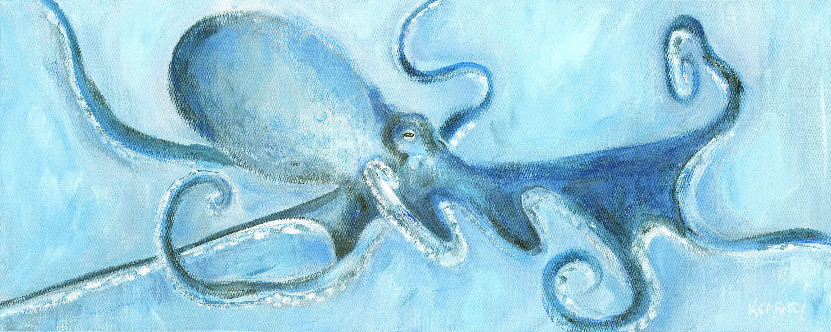 Always an Octopus – Acrylic – 16 x 40