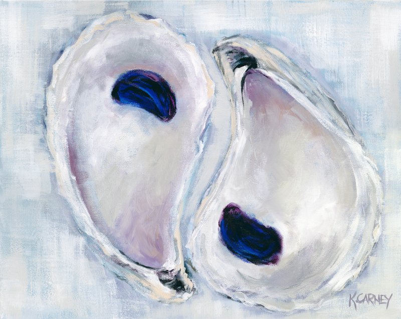Plum Poised Oysters - Acrylic - 24 x 30