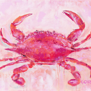 A Pink Crab  - Acrylic - 16 x 20