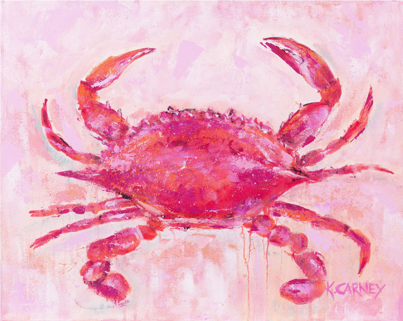 A Pink Crab  - Acrylic - 16 x 20