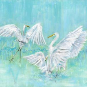 Dance of the Egrets - Acrylic - 24 x 30