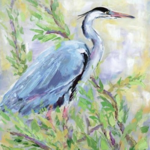 Birds of a Feather II (Heron) - Acrylic - 16 x 20