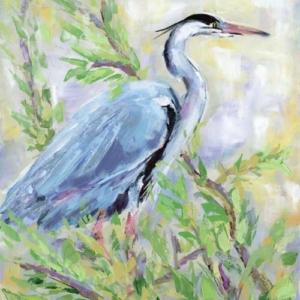 Birds of a Feather II (Heron) - Acrylic - 16 x 20