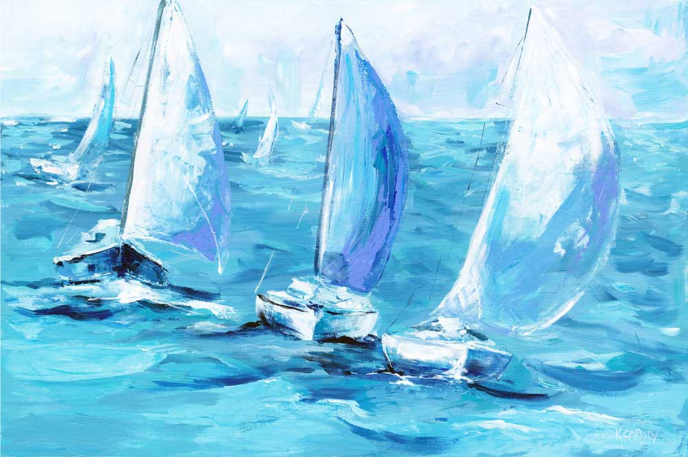 Royal Seas  – Acrylic – 24 x 36