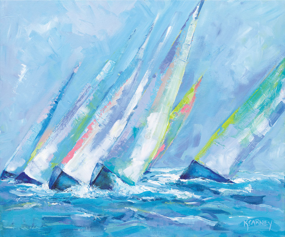 Sunset Sails – Acrylic – 20 x 24