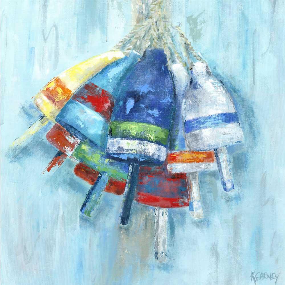 The Beach Buoys - Acrylic - 36 x 36