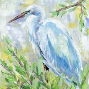 Birds of a Feather I (Egret) - Acrylic - 16 x 20