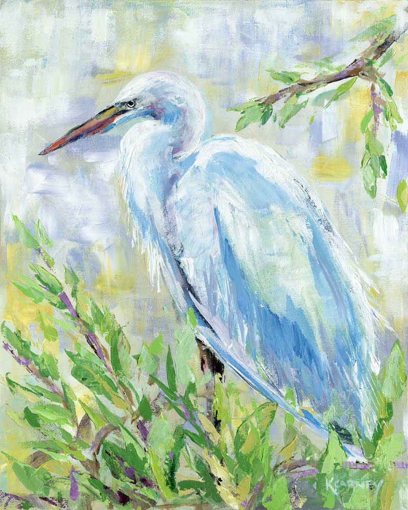 Birds of a Feather I (Egret) - Acrylic - 16 x 20
