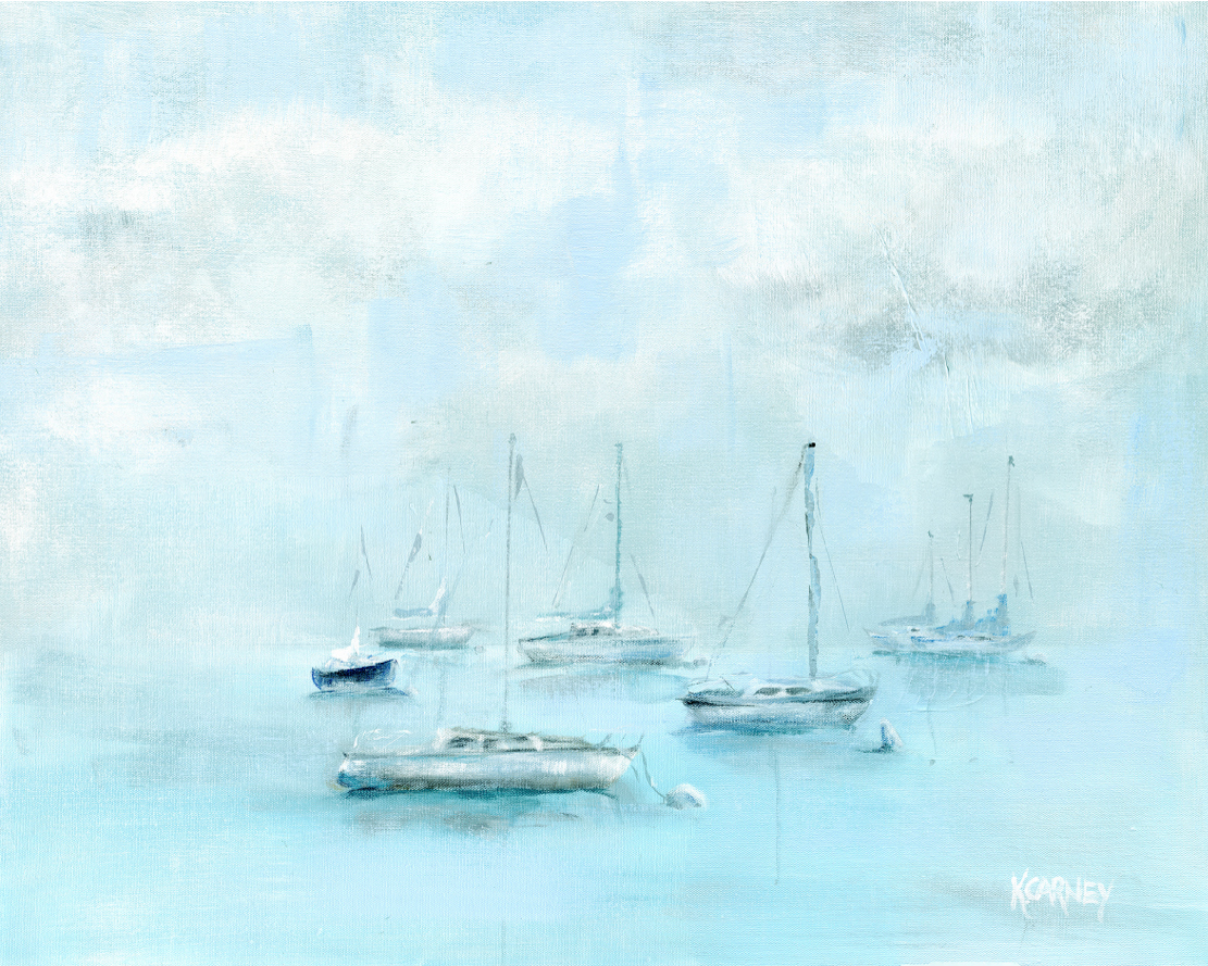 Misty Harbor – Acrylic – 24 x 32