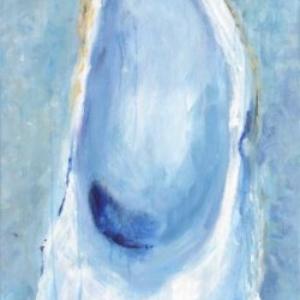 Oyster on Ice - Acrylic - 15 x 30, framed
