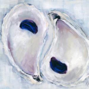 Plum Poised Oysters - Acrylic - 24 x 30