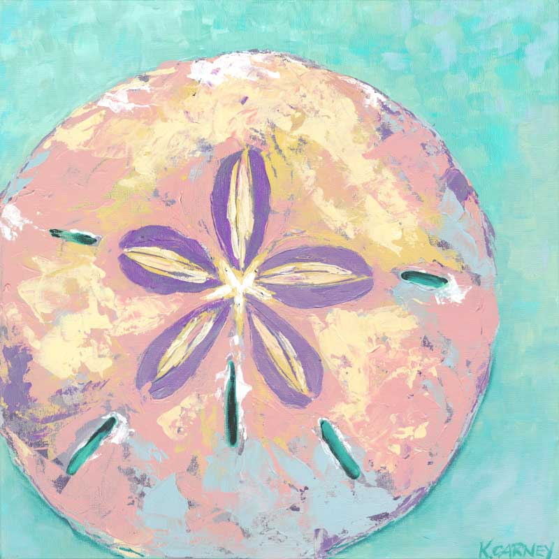 st tropez sand dollar paintings by katherine carney
