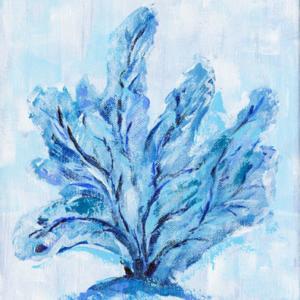 Blue Coral Fan  - Acrylic - 8 x 10
