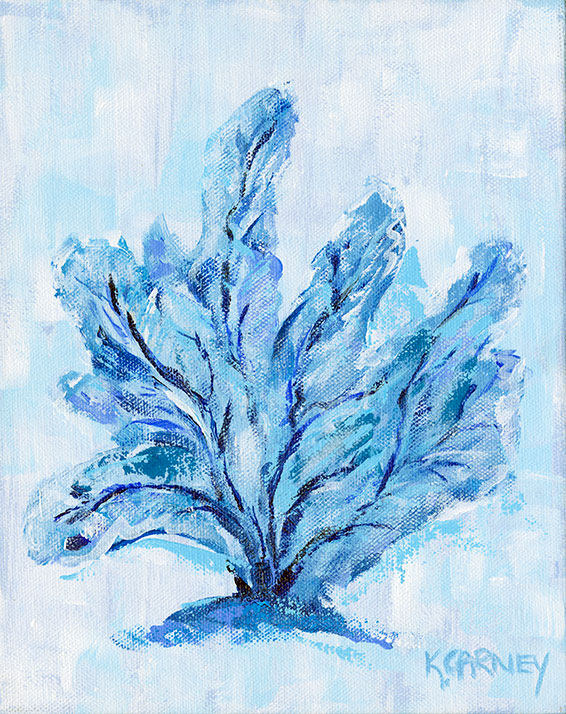 Blue Coral Fan  - Acrylic - 8 x 10