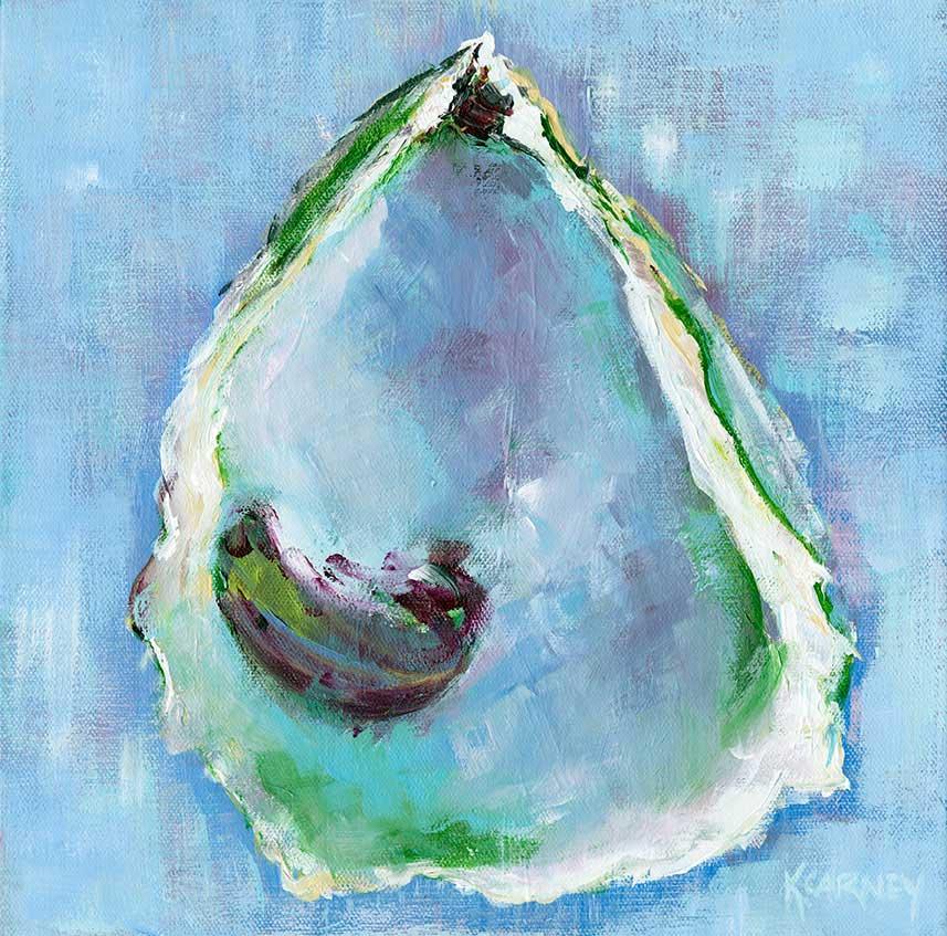 Spring Oyster Interior  -  Acrylic  -  12 x 12