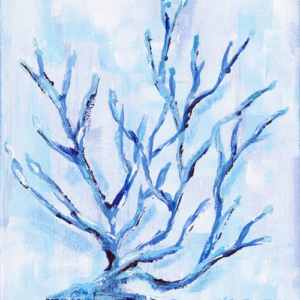 Blue Coral  - Acrylic - 8 x 10
