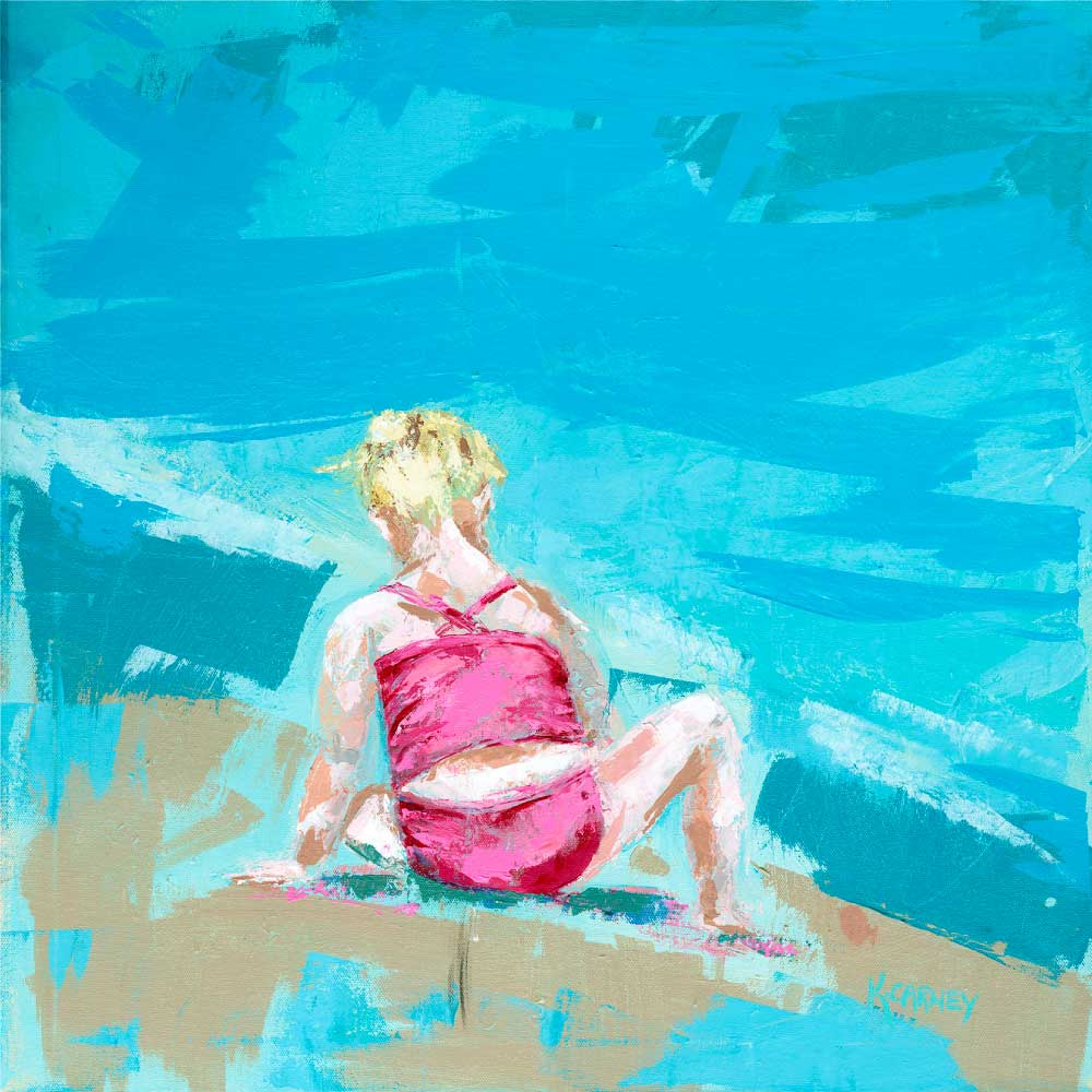 Little Girl in the Sand - Acrylic - 24 x 24