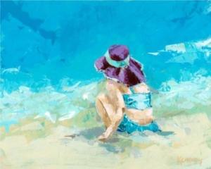 Girl in the Purple Hat - Acrylic - 20 x 24