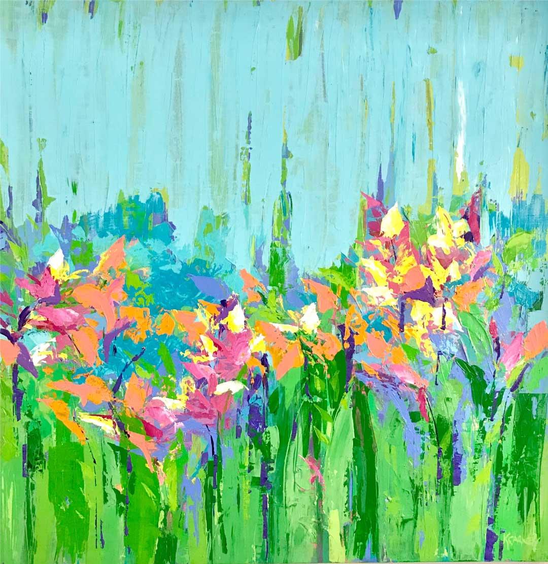 My Garden  -  Acrylic  -  36x36